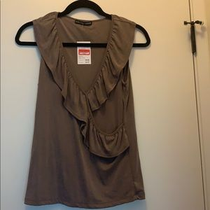 Brown professional blouse
